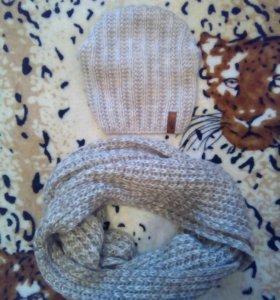 Продам шапки и шарфы хомут