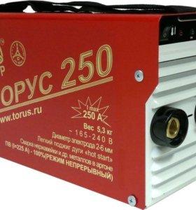 Сварочный аппарат  инверторный Торус 250 бу