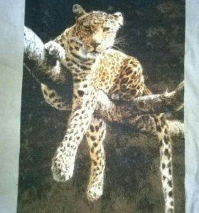 """Вышивка крестом """"Отдыхающий Леопард"""""""