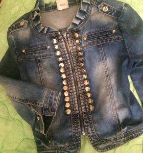 Накидка джинсовая
