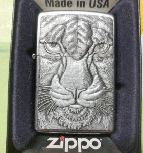 Зажигалка Zippo Tiger Emblem Street Chrome 20287