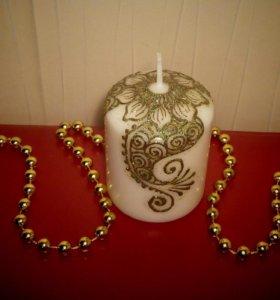 Интерьерная свеча для дома и фотостудий