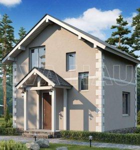 Дом из СИП-панелей ЭТЮД (домокомплект) 60м2