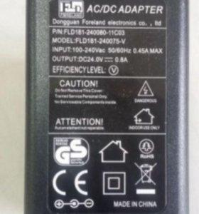 Блок питания (сетевой адаптер) 24V 0.8A