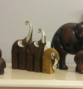 Статуэтки СЛОНЫ (Фигурки слонов)