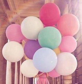 Гигантский надувной розовый шарик (новый)