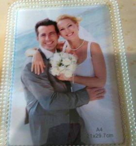 Рамка для фотографии новая свадебная