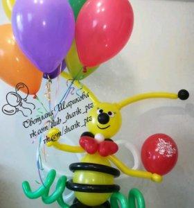 Подарок из воздушных шаров