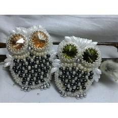 Милые совы ручной работы из бисера