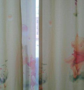 Продам комплект шторы+тюль