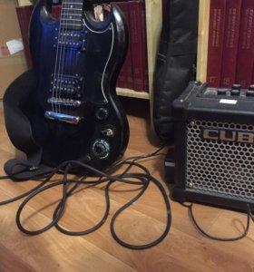Гитара epiphone  special sg model + усилитель