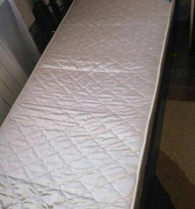 Продам кровать и матрас новая длина 2м,ширина 80
