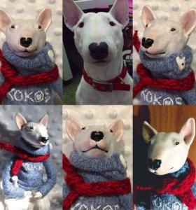 Портретная кукла собака