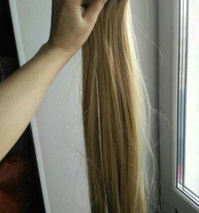 Накладные волосы на заколках(трессы)