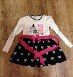 Платье 4-6 лет Свинка Пеппа