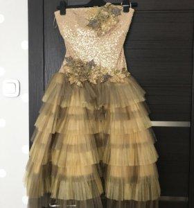 Вечернее платье с накидкой + подарок клатч
