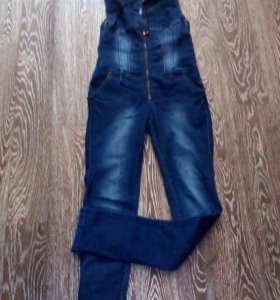 джинсовый камбинезон