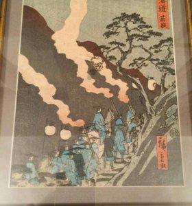 Лист графики из серии (Токайдо)Япония