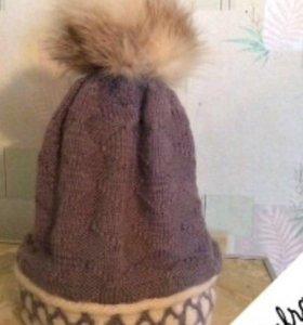 Зимняя шапочка на девочку 5-6 лет.