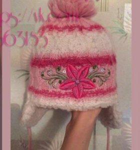 Зимняя шапочка на девочку 2-3 года