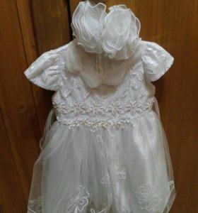 Белое! платье 92-98 (2-3 года)
