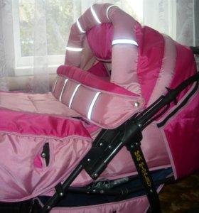 коляска для двойни+ 2 сумки для переноса.