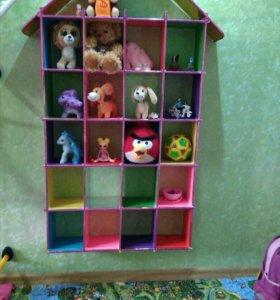 Детская полка для игрушек