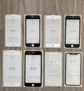 Защитное 5D стекло iPhone 6, 6S, 7, 7+, 8, 8+, Х