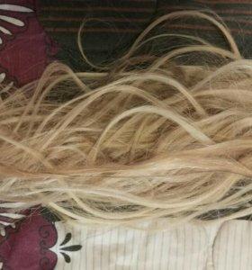 Волосы для наращивания,славянка,б/у