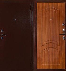 """Входная дверь """"Фреза"""" венге, беленый дуб, береза."""