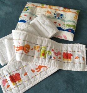 Бортики Икеа + комплект постельного белья