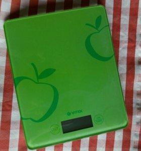 Кухонные весы, зелёные