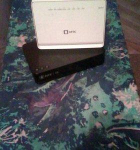 Комплект WI-FI роутер и кабельный ТВ приёмник
