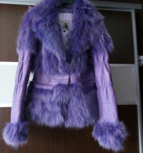 Куртка из натурального меха лисы