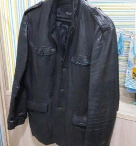 Кожаный пиджак ZARA