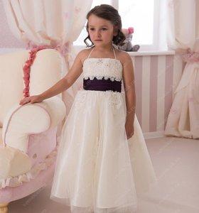 Новое платье для девочек в пол
