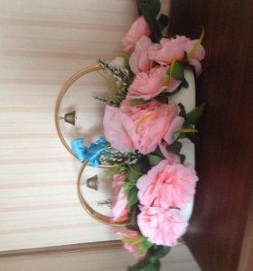 аксессуар для украшения авто свадебного кортежа