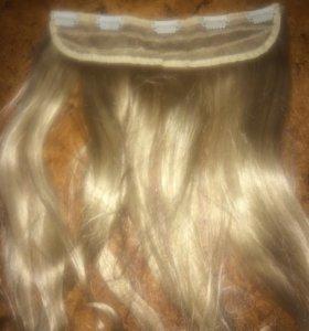 Накладные волосы блондинка