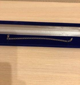 Серебряный браслет новый