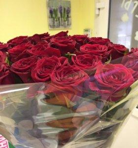 Цветы 51 роза на 14 февраля