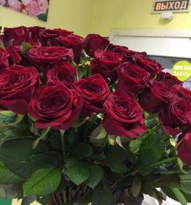Розы бордо на 14 февраля
