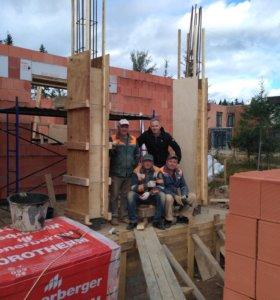 Бригада строителей из Белоруссии.
