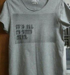 Серая футболка с принтом S.Oliver