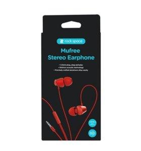 Стерео-наушники Rock Mufree Stereo Earphone