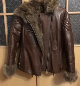 Куртка из натуральной кожи и чернобурки