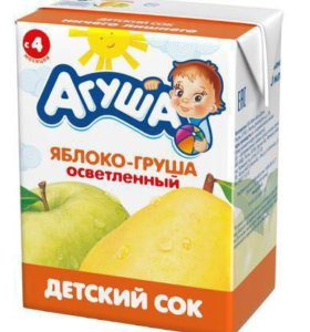 Маленький сок «Агуша»