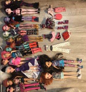 Куклы Monster High, Bratz, Moxie, Ever After High