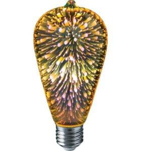 Дизайнерская светодиодная 3D лампа Фейерверк