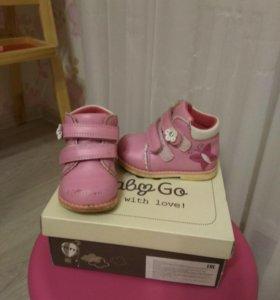 Ботинки для девочки)