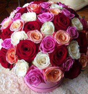 Розы в коробке на 14 февраля с доставкой